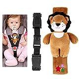 yeahibaby Baby Sicherheit Sitz Gurt Gürtel Gurt Gürtel Locking Schnalle der mit Niedliche Plüsch...