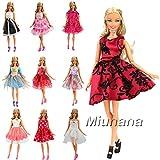 Miunana 5 Sets Fashionistas Ballkleid Abendkleid Kleidung Kleidchen Kleider Cocktailkleid Minikleid...