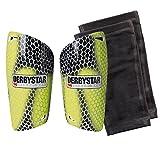 Derbystar Fußball Schienbeinschoner Flash APS, Größe S, gelb schwarz grau, 3235