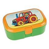 Lunchbox / Brotdose - ' Traktor & Bauernhof ' - mit extra Einsatz / herausnehmbaren Fach -...