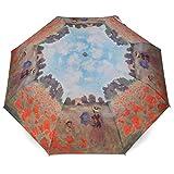 Rosemarie Schulz - Taschen Regenschirm Claude Monet 'Mohnfeld bei Argenteuil' - Sonnenschirm,...
