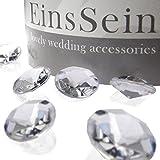 100x FUNKELNDE Diamantkristalle 12mm klar EinsSein® Dekoration Dekosteine Diamanten FUNKELNDE...