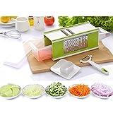 Buself Good Grips Vierkantreibe mit Auffangbehälter ,Gemüseschneider, Gemüsehobel, einfach...