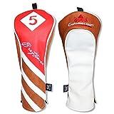 Craftsman Golf rot braun weiß PU Leder Driver/FAIRWAY HOLZ/Hybrid Schlägerhaube # 1# 3# 5x,...