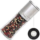 Pfeffermühle Salzmühle Gewürzmühle unbefüllt mit Keramik Mahlwerk in Geschenk Verpackung -...