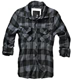 BRANDIT Check Shirt Black-Grey 4XL