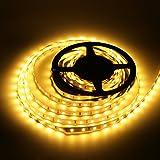 LEDMO Warmweiß Led Streifen, SMD2835 300 LEDs, 4500 Lumen, 2700 Kevin, 5m Länge flexible LED...