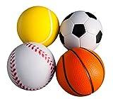 | 4Stk | Stressball im mini Sportball Design | 6,35cm | Antistressbälle Stressbälle in mehreren...