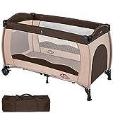 TecTake Kinderreisebett mit Schlafunterlage und praktischer Transporttasche - diverse Farben -...