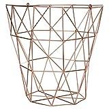 Premier Housewares Vertex–Kupfer versilbert, metall, kupfer, 31 x 31 x 31 cm