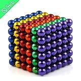 J.Causd Set von 216 Magnetkugeln 5 MM Magnetische Kugelwürfel Magnetic Sculpture Schreibtisch...