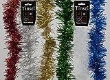 Weihnachtsbaum-Dekoration Luxus Lametta Rot / Silber / Gold / Blau / Grün / Weiß