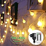 GREEMPIRE Lichterkette 100 LED Warmweiß Lichterketten Globe 13.3M mit EU Stecker, Lichterkette...