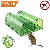 ZenJäger 2X Pack Mäusefalle - Mäuse Lebendfalle - Lebende Tierfalle-Umweltfreundlich-innerhalb...