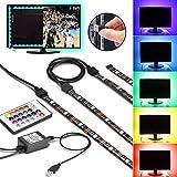 TV Hintergrundbeleuchtung USB Gr4tec LED Streifen Backlight Set RGB USB Strip Wasserdicht IP65 mit...