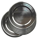 Jpf Platzteller rund–Set von 6Stück–Edelstahl–Silber Ø 32 cm silber