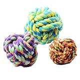 Tenchif Hundeseil Spielzeug Ball Baumwolle Chew Knot Ball für Hund Zähne Reinigung