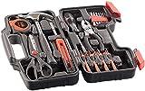 AGT Werkzeugkasten: Werkzeugset im Koffer WZK-391, 39-teilig (Werkzeugbox)