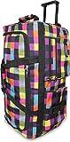 Leichte XXL Reisetasche Rollenreisetasche Trolley Sporttasche mit Rollen Farbe Neon Square