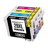 4 LEMERO 29XL 29 XL T2991 T2992 T2993 T2994 XL Druckerpatronen Kompatibel für Epson Expression Home...