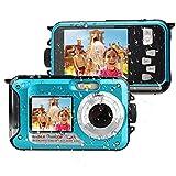 Unterwasserkamera Full HD 1080P Digitalkamera Wasserdicht 24 MP Unterwasser Digitalkamera Selfie...