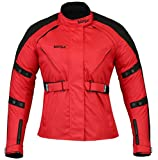 Bangla 1520 Schicke Damen Motorrad Jacke Tourenjacke Textil Rot XXL