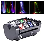 U`King Moving Head, LED Lichteffekt DJ Partylicht Disco Bühnenlicht DMX512 with 8 * 10W RGBW...