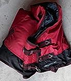 HKM Weidedecke -Premium 1680D- Winter, weinrot/schwarz, Rückenlänge 135 cm