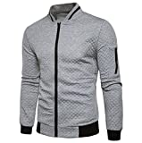 Männer Plaid Strickjacke CLOOM leichte herrenjacken Zipper Sweatshirt Tops Outwear Sport...