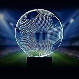 Fussball 3D Optische Illusions-Lampen LED Nachtlichter, FZAI Touch Tischlampe Haus Dekoration 7...