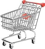 Mini Deko Supermarkt Einkaufswagen aus Metall, Gitterwagen Kinder Spielzeug, Geschenkidee,...