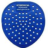 12 x Urinalsiebe, Pissoir-Einstatz blau, Urinal-Einsatz aus Kunststoff parfümiert mit Eigenduft