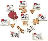 Knobelspiel Klassiker Set - Geschicklichkeitsspiele / Geduldspiele Sets - incl. Lösung (8set)