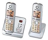 Panasonic KX-TG6722GS Duo Schnurlostelefon (4,6 cm (1,8 Zoll) Display, Smart-Taste, Freisprechen,...