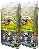 Floragard Kleeschulte Bio Orchideenerde torffrei 2x5 L • 35 % Klimavorteil • Bio-Qualität• 10...