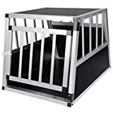 EUGAD Hundebox Hundetransportbox Aluminium Transportbox Alubox Hund 1 Türig Reisebox Gitterbox...