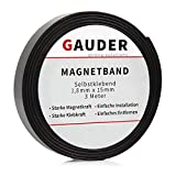 GAUDER Magnetband selbstklebend I Magnetklebeband I Magnetklebestreifen I Magnetisches Klebeband I...