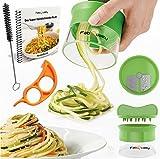Premium Spiralschneider Hand für Gemüsespaghetti kartoffel - mit BÜNDEL Kochbuch und enthält die...