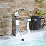 Homelody Chrom Wasserhahn Bad Waschbecken Armatur Waschtischarmatur Einhebelmischer...