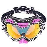 Motorradbrillen POSSBAY Cool Outdoor Wintersport Skifahren Anti-UV Schutzbrille Winddicht Staubdicht...