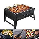 GolWof Faltbare BBQ Grill Holzkohlegrill Edelstahl Portable Grill Campinggrill Picknickgrill...