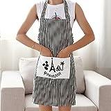 Elistelle Küchenschürze Grillschürze Kochschürze Streifen Aus Baumwolle 63.5*58cm