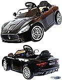 Kinderfahrzeug 12V Kinder Elektro Auto Maserati Gran Turismo MP3 USB EVA Gummiräder Ledersitz 2,4...