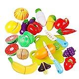 Jspoir Melodiz Kinder Geschnittenes spielzeug obst und gemüse Spielzeug Lebensmittel Spielen als...
