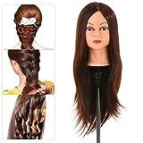 Anself Übungskopf Haar Trainingskopf Frisurenkopf 24' für Friseure mit Halter