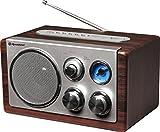 Roadstar HRA-1345 Retro-Radio mit UKW und MW Tuner (USB, SD-Kartenleser, AUX-In, Teleskop-Antenne),...