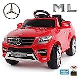 Original Mercedes-Benz ML 4x4 4MATIC 350 SUV Lizenz Kinderauto Kinderfahrzeug (ROT)