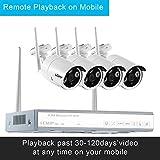LESHP 4CH 960P HD drahtloses Überwachungskamera Set mit Network Video Recorder IP...