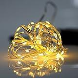 Gresonic 60er LED Micro Lichterkette Draht mit Timer Mini Leuchte Batteriebetrieben Deko für Garten...