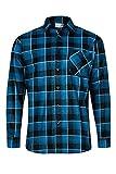 MAX PRO Herren Flanell-Hemd Arbeitshemd 100% Baumwolle Blau M MP1013_M